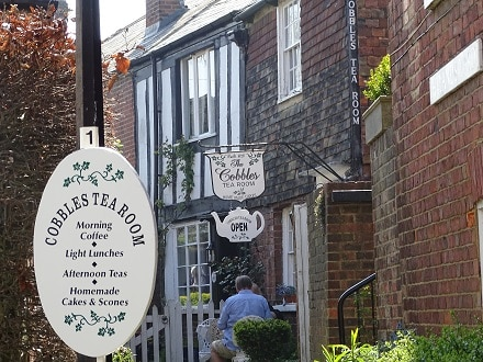 English afternoon tea at a traditional tea room in Rye
