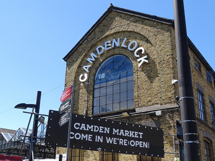 Camden Lock market is one of north London's most popular markets