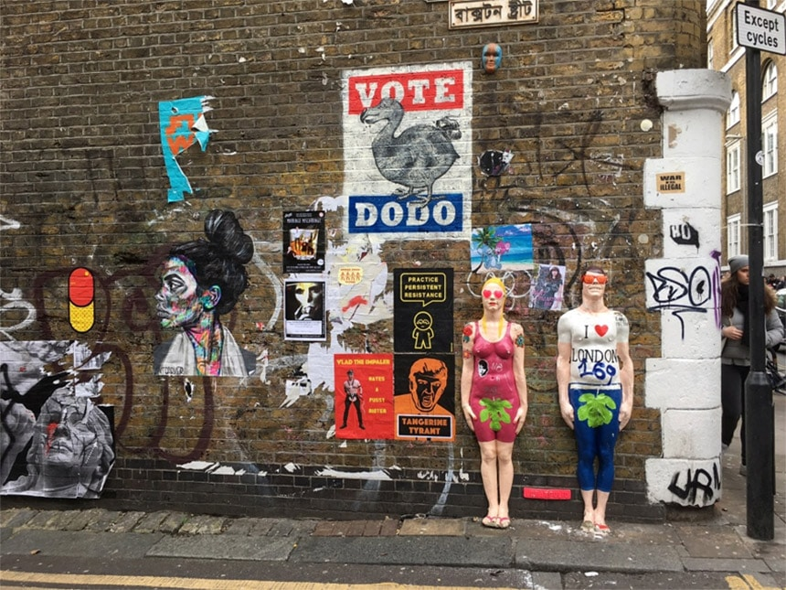 Explore the graffiti art in Brick Lane and London's East End