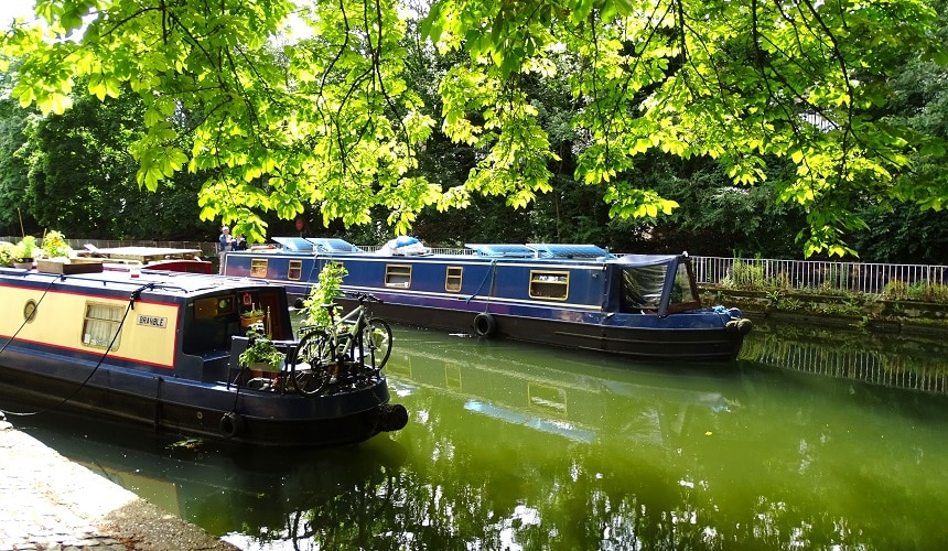 Explore a hidden side of London, along its canals and waterways