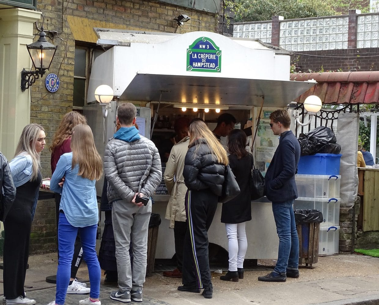 Visit the creperie in Hampstead, London