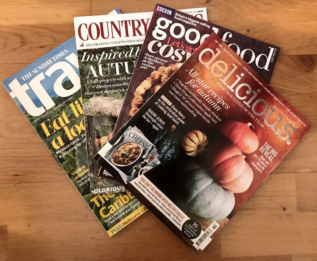 English magazines are a good starting-point for English learning