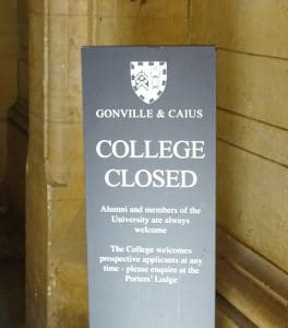 Names such as Gonville & Caius can be very confusing for non-English speakers