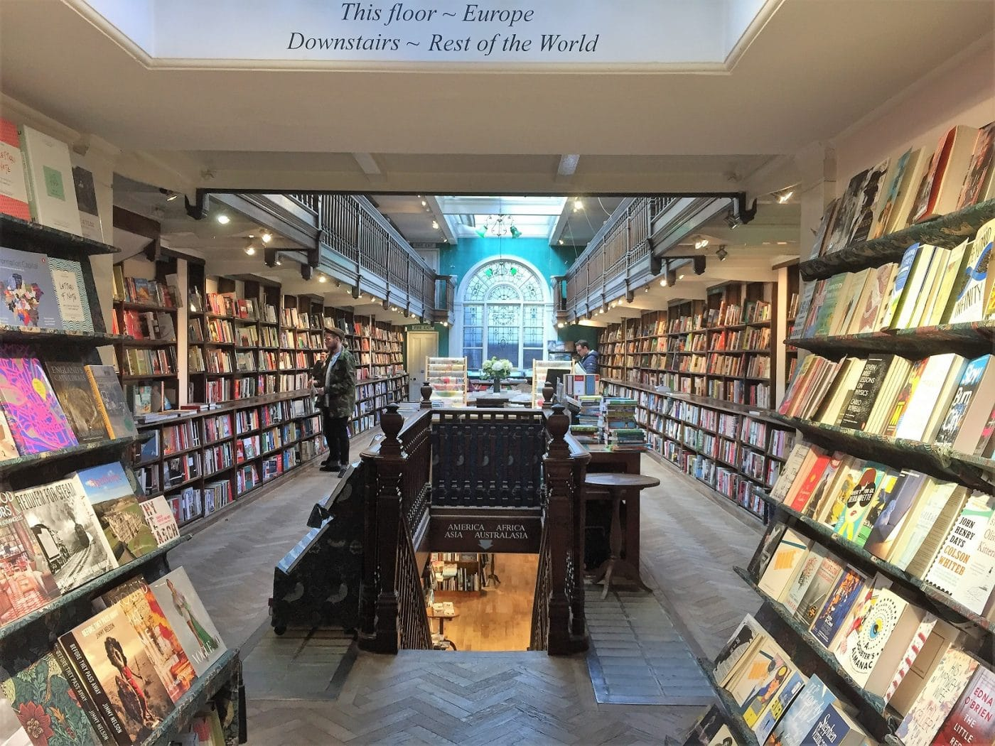 Browse the books in the atmospheric Daunt Bookshop in Marylebone High Street