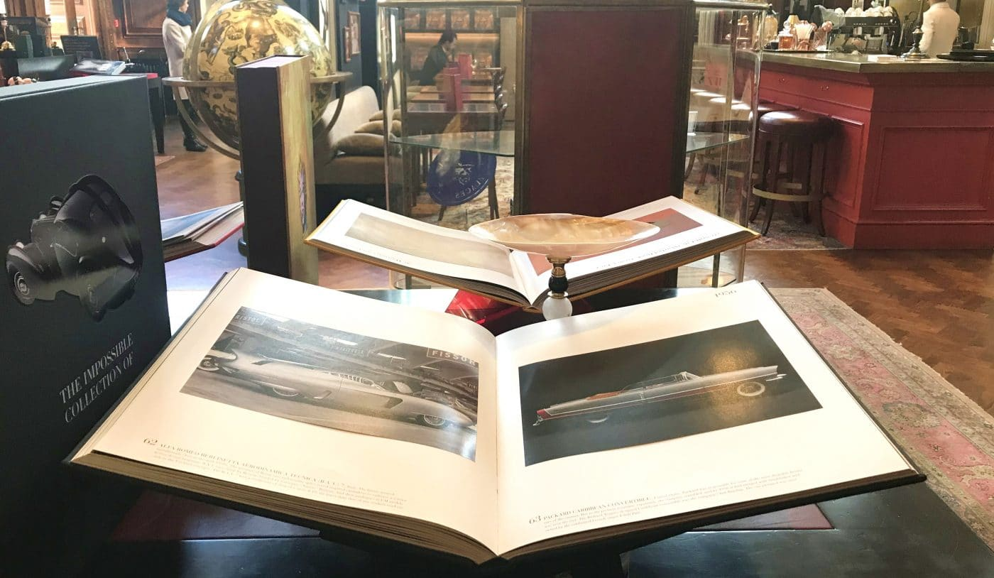 Browse the coffee table books at stunning Maison Assouline