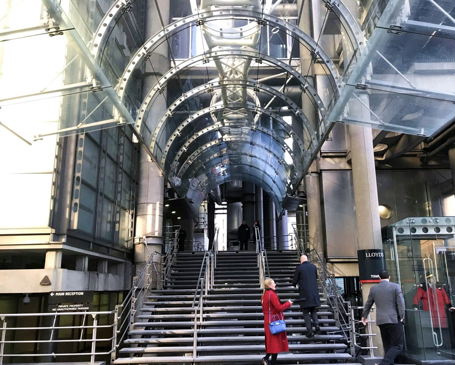 Walk past the striking Lloyds of London building on your City tour