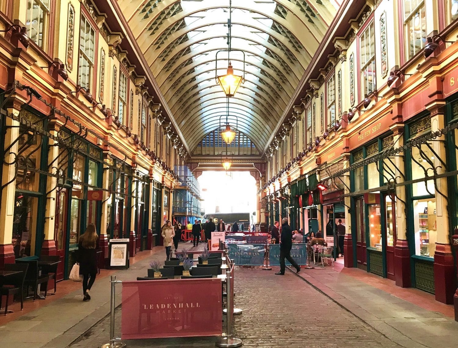 Leadenhall Market featured as Diagon Alley in the Harry Potter films