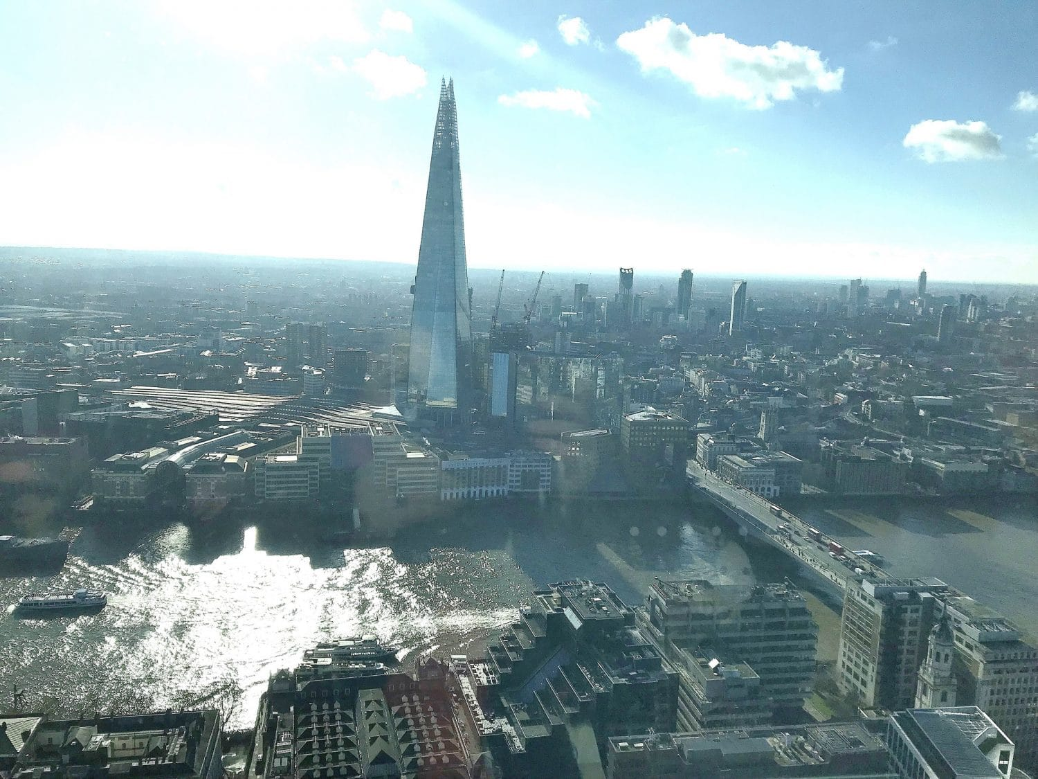 Enjoy views over London while you brunch on level 31, the Shard