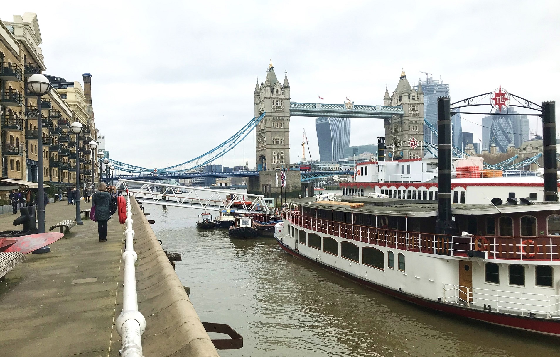 Take in the view from Butler's Wharf to Tower Bridge