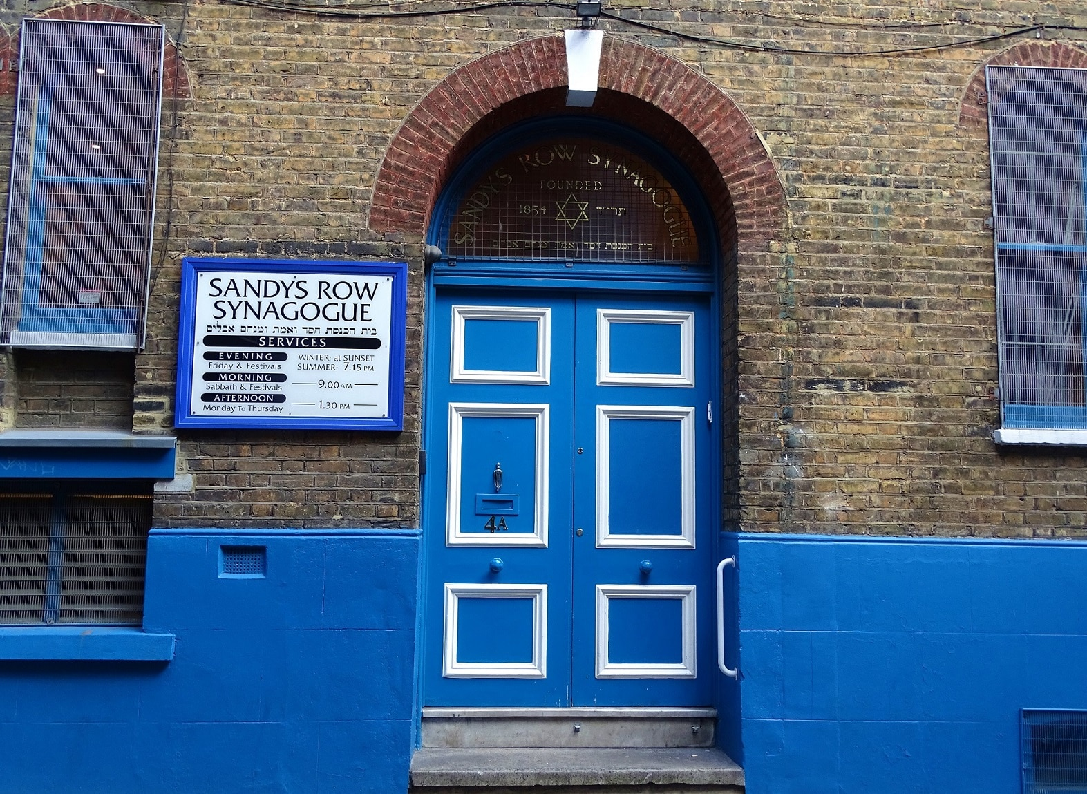 Sandys Row synagogue is London's oldest Ashkenazi synagogue