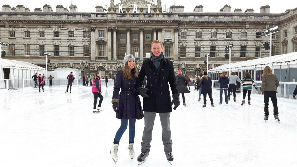 Enjoy festive skating on the ice-rink at London's Somerset House