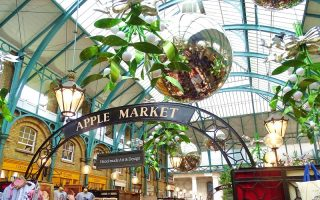 Browse the festive stalls in Covent Garden