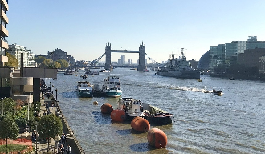 Iconic view of Tower Bridge, London