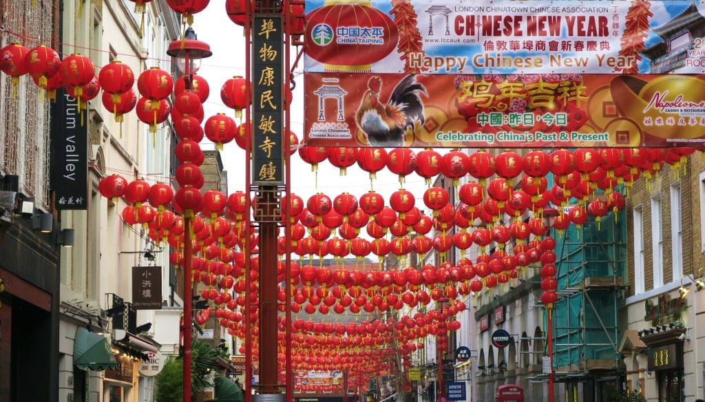 Visit Chinatown in London at Chinese New Year