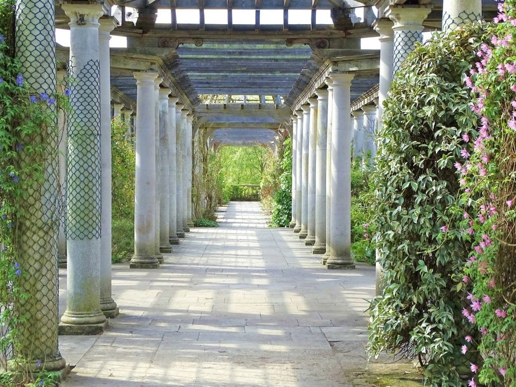 The Hill Garden & Pergola is a highlight of our walking tour of Hampastead