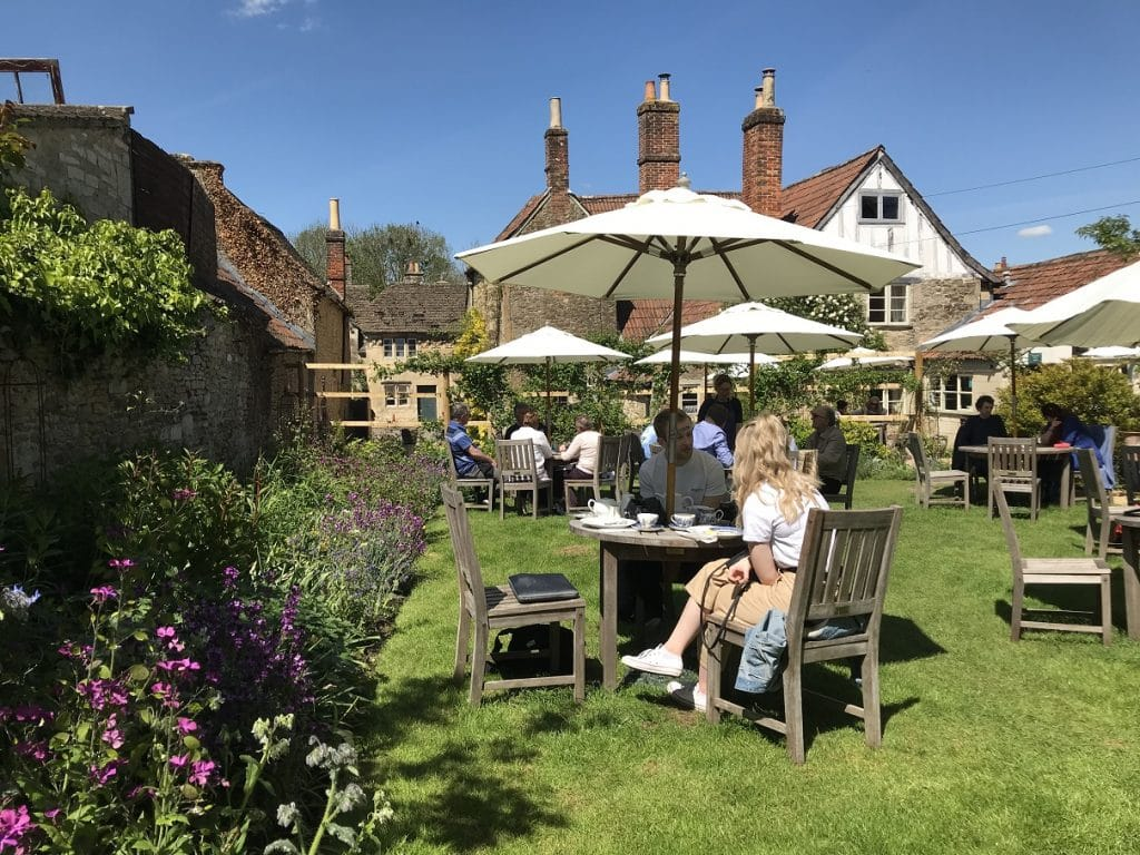 Traditional cream tea in Lacock Village, Wiltshire