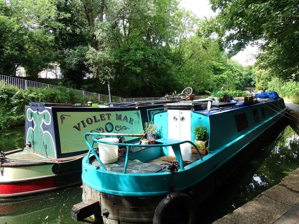 Narrowboats on the Regents Canal