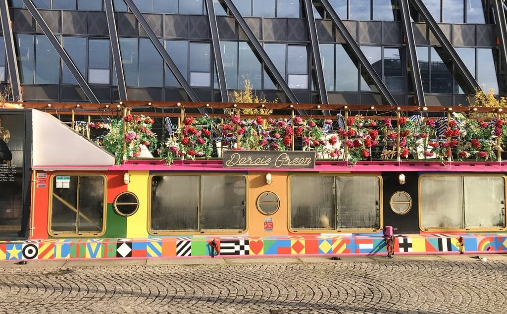 Darcie Green floating restaurant, Paddington Basin